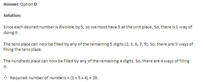 Quantitative Ability  - Questions on Permutation and Combination