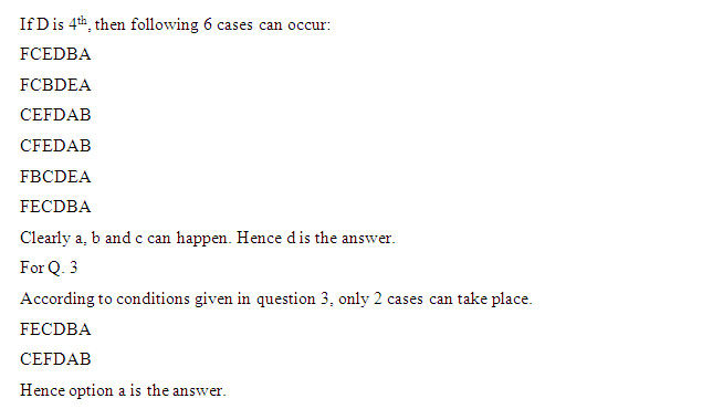 CAT 2013: Logical Reasoning
