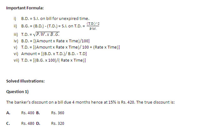 CAT 2013: Quantitative Ability - Tricky Questions on Banker's Discount