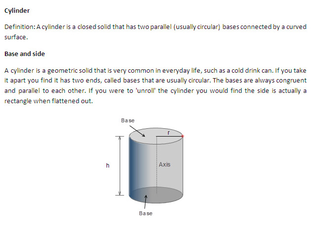 CAT 2013: Quantitative Ability - Detailed concept of Cylinder