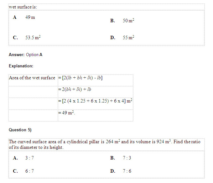 XAT 2014: Geometry - Important Questions