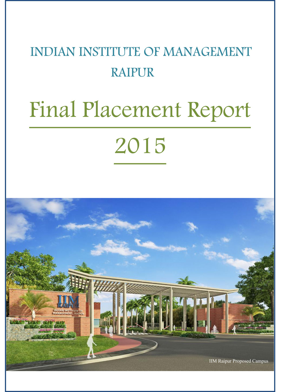 Final Placement Report 2015 at IIM Raipur