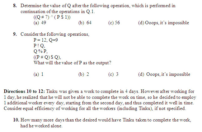 Practice Questions of DILR- CAT 2015