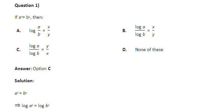 IIFT Study Material -  Logarithmic Questions