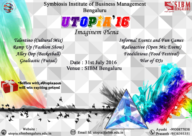 International Cultural Fest - Utopia | SIBM Bengaluru