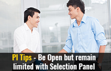 PI Tips - Be open but remain limited with selection panel