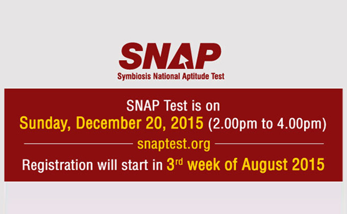 SNAP will be conducted on 20th December , 2015