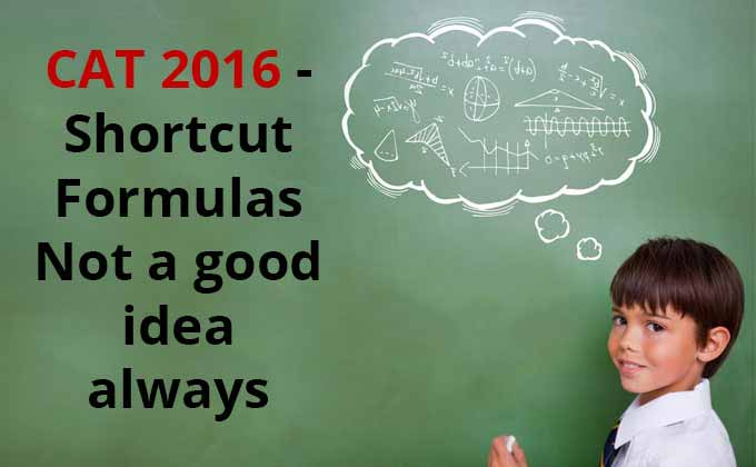 Shortcut Formulas - Not a good idea always