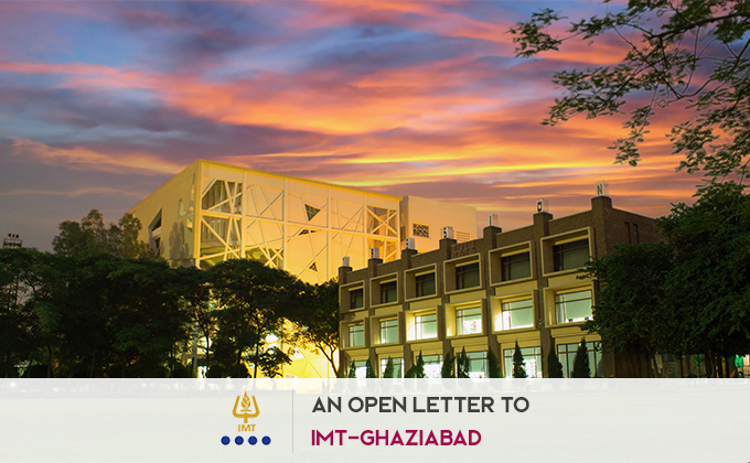 An Open Letter to IMT-Ghaziabad