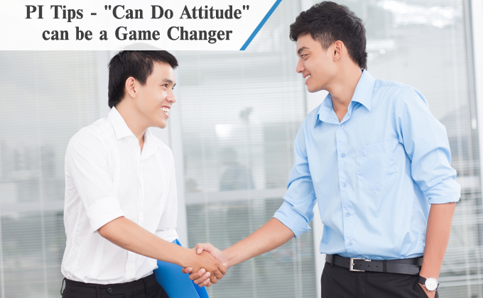 'Can Do Attitude' can be a game changer