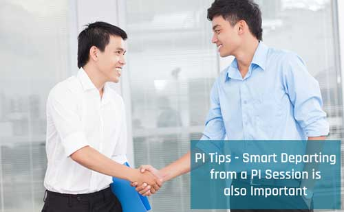 Smart Departing from PI session is also important
