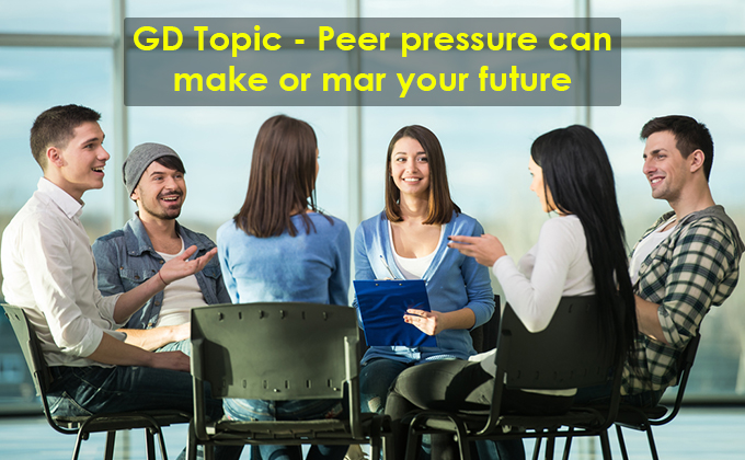 Peer pressure can make or mar your future