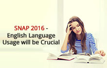 English Language usage will be crucial| SNAP 2016 | SNAP test