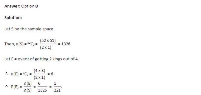 CAT 2013: Quantitative Ability  - Probability