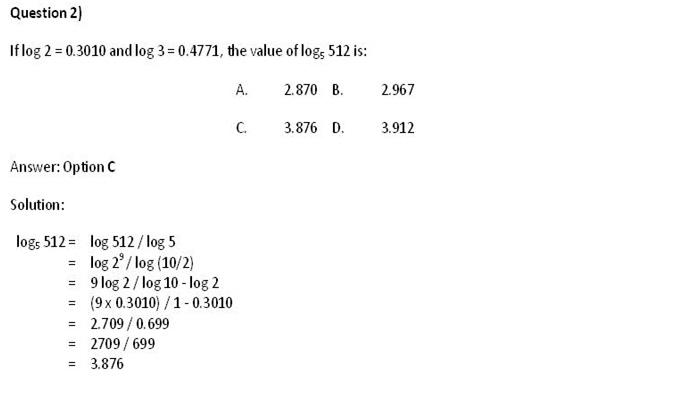 CAT 2013: Quant Concepts - Logarithm