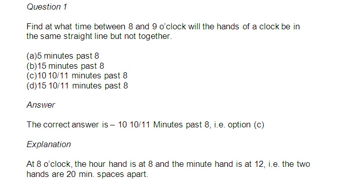 CMAT First Test: Quantitative Techniques Section Important Clock Questions with Explanations