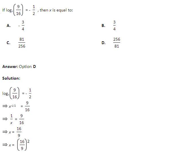 IIFT 2013: Logarithm
