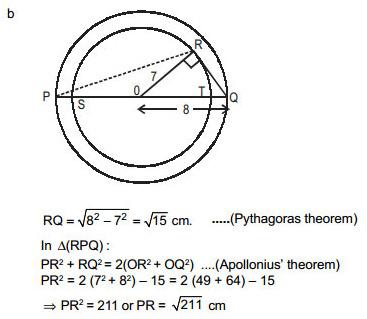 CAT 2015 QA - Pythagoras & Apollonius Theorems