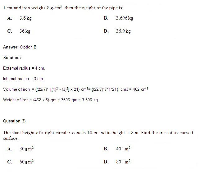 CAT 2015 Study Material - Geometry QAs