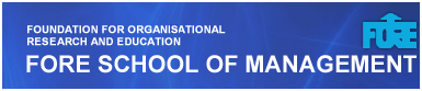 PGDM Admission News - FORE School of Management New Delhi