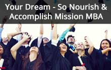 Nourish and accomplish Mission admission MBA